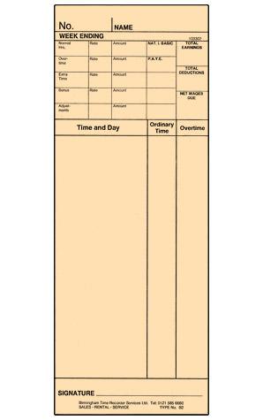 B2 Clock Card