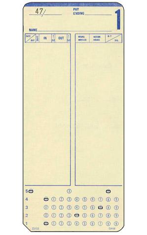 DAM Clock Cards