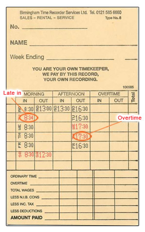time card example