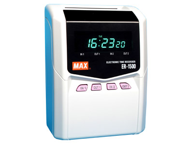 max-er-1500 time recorder