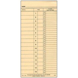 job card